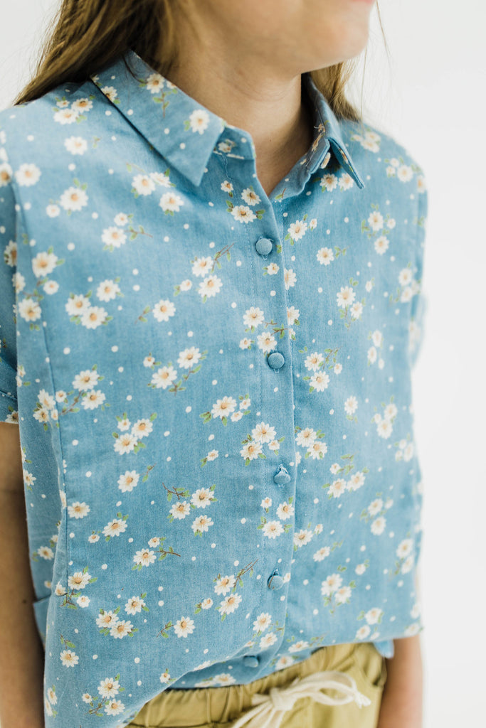 Floral Printed Button Up | ROOLEE Kids