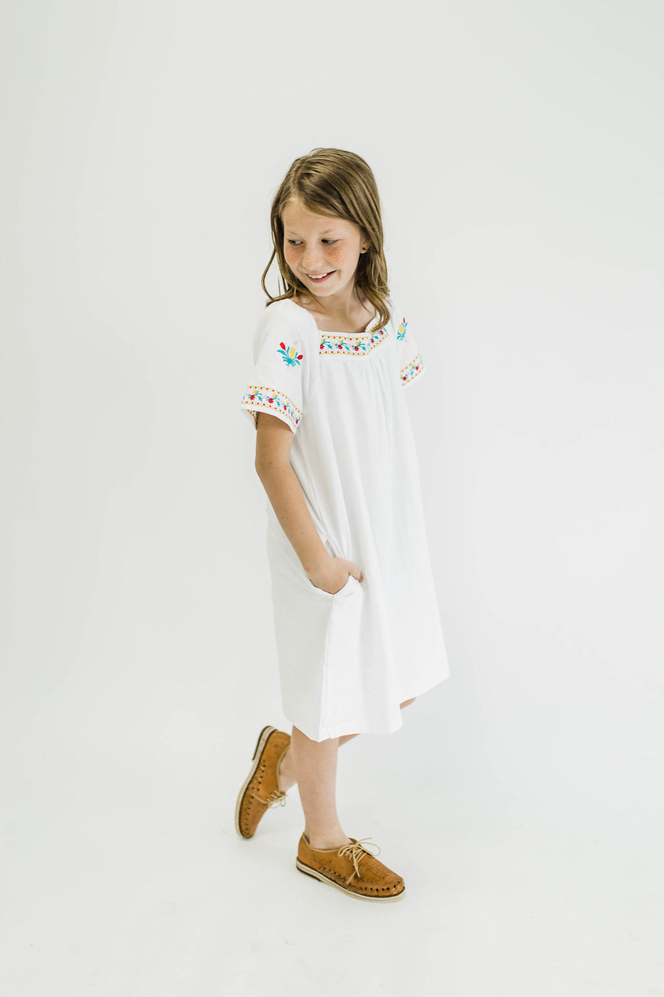 Flores Embroidered Dress