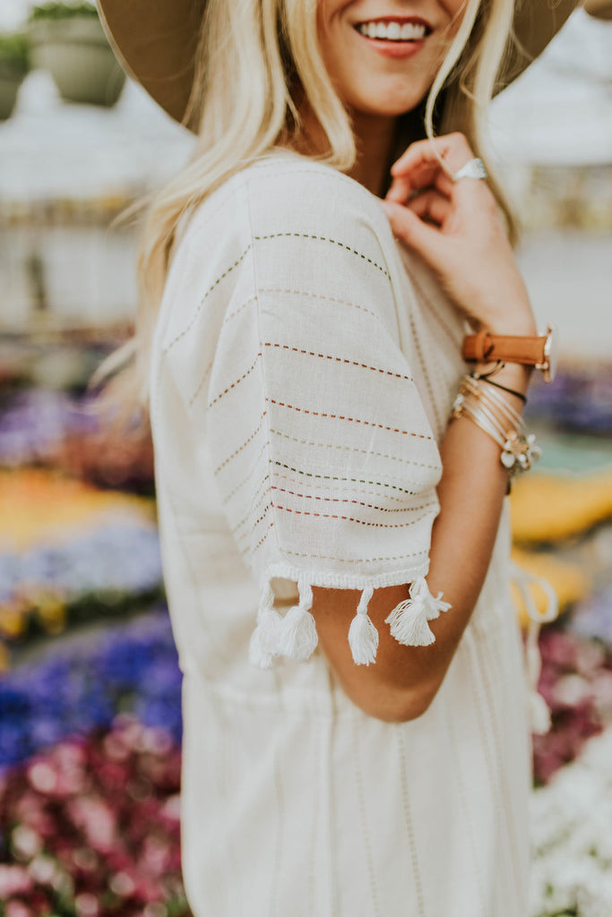 Short Sleeve Dress with Tassels | ROOLEE