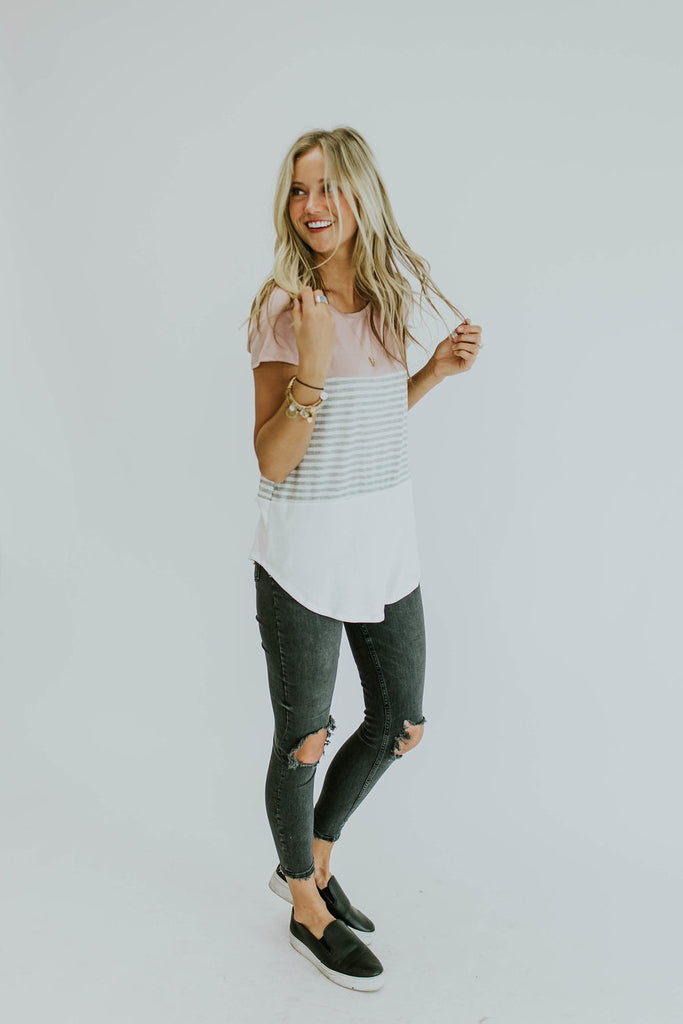 Triple Threat Color Block Top