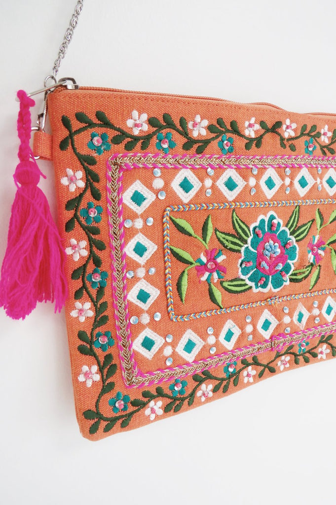 Gabrielle Embroidered Clutch