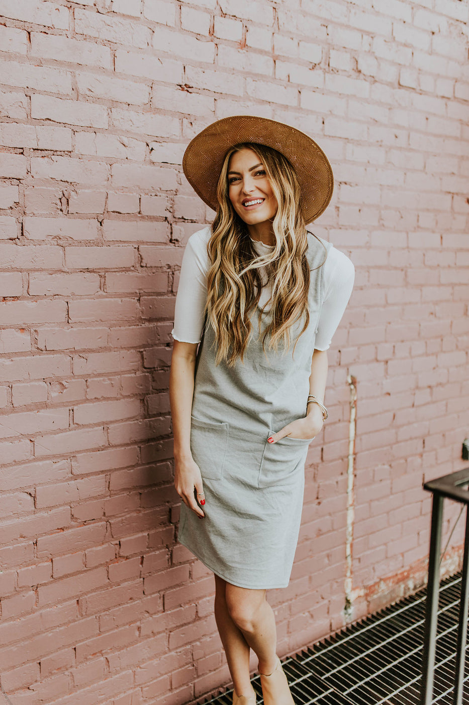 Grey Retro Layering Jumper Dress | ROOLEE