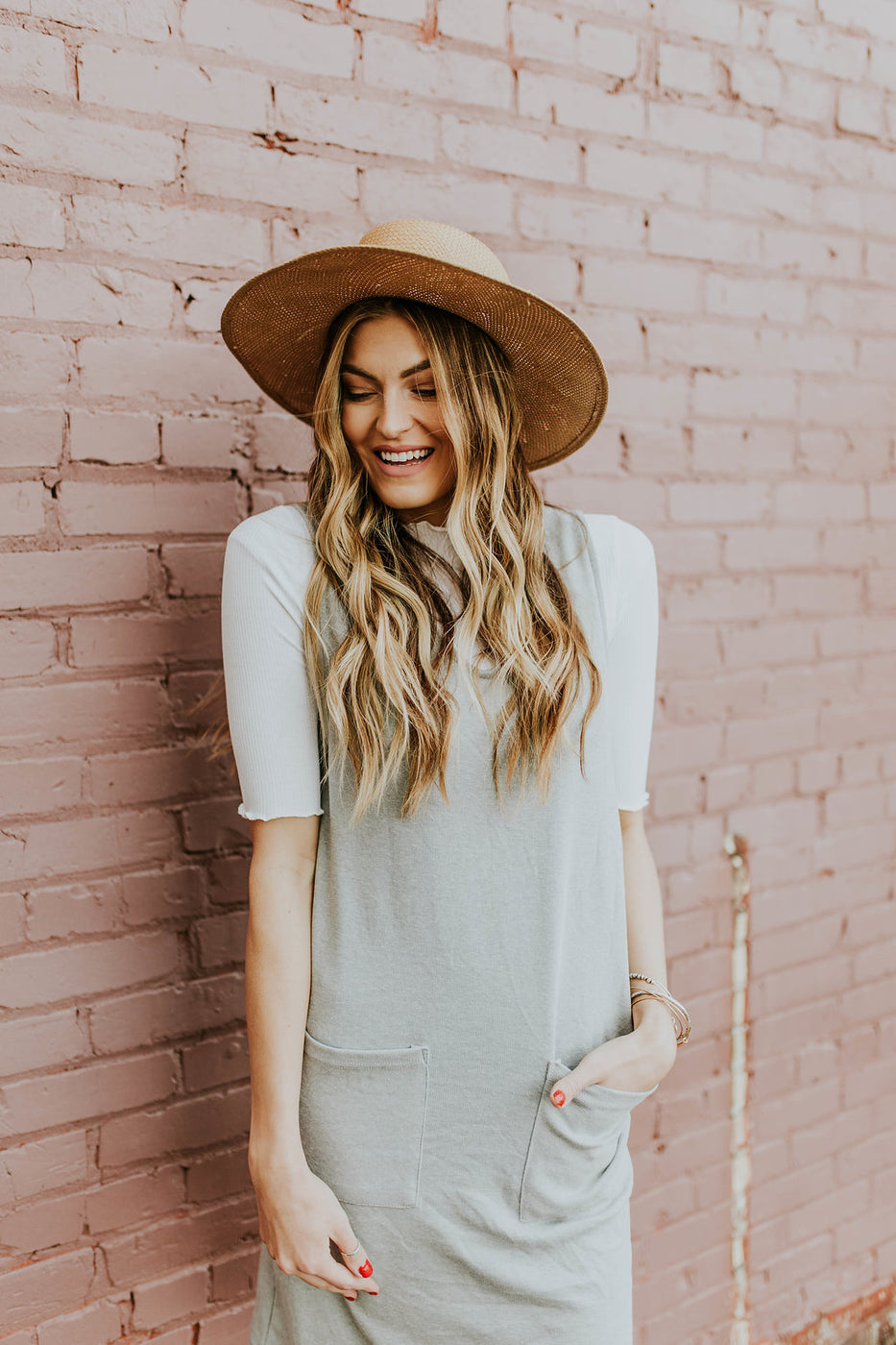 Neutral Layered Jumper Dress | ROOLEE