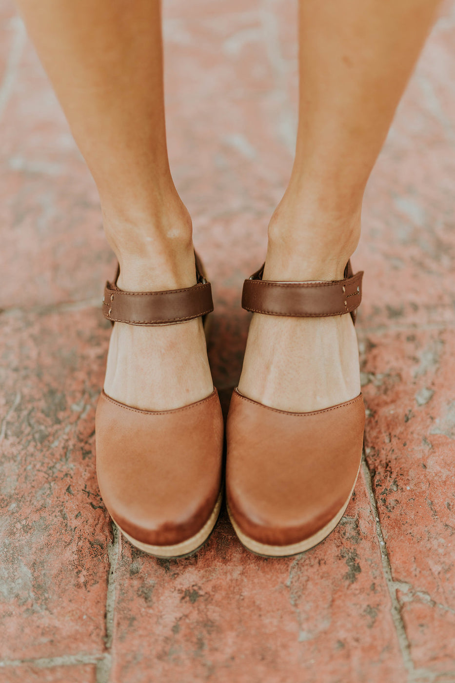 Womens Leather Clog Heels | ROOLEE