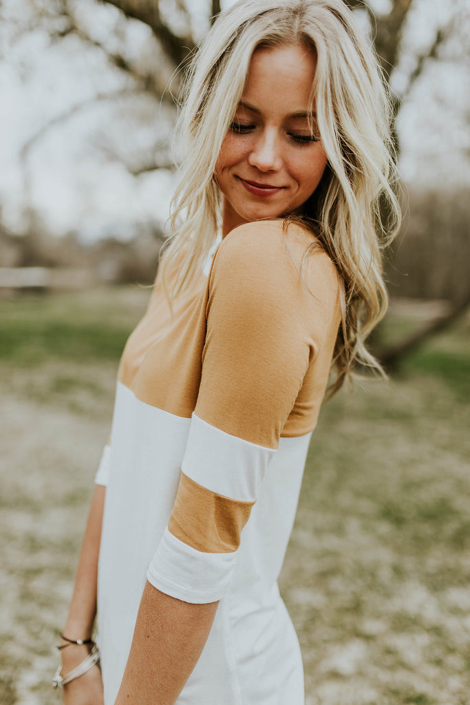Olivia Colorblock Top | ROOLEE