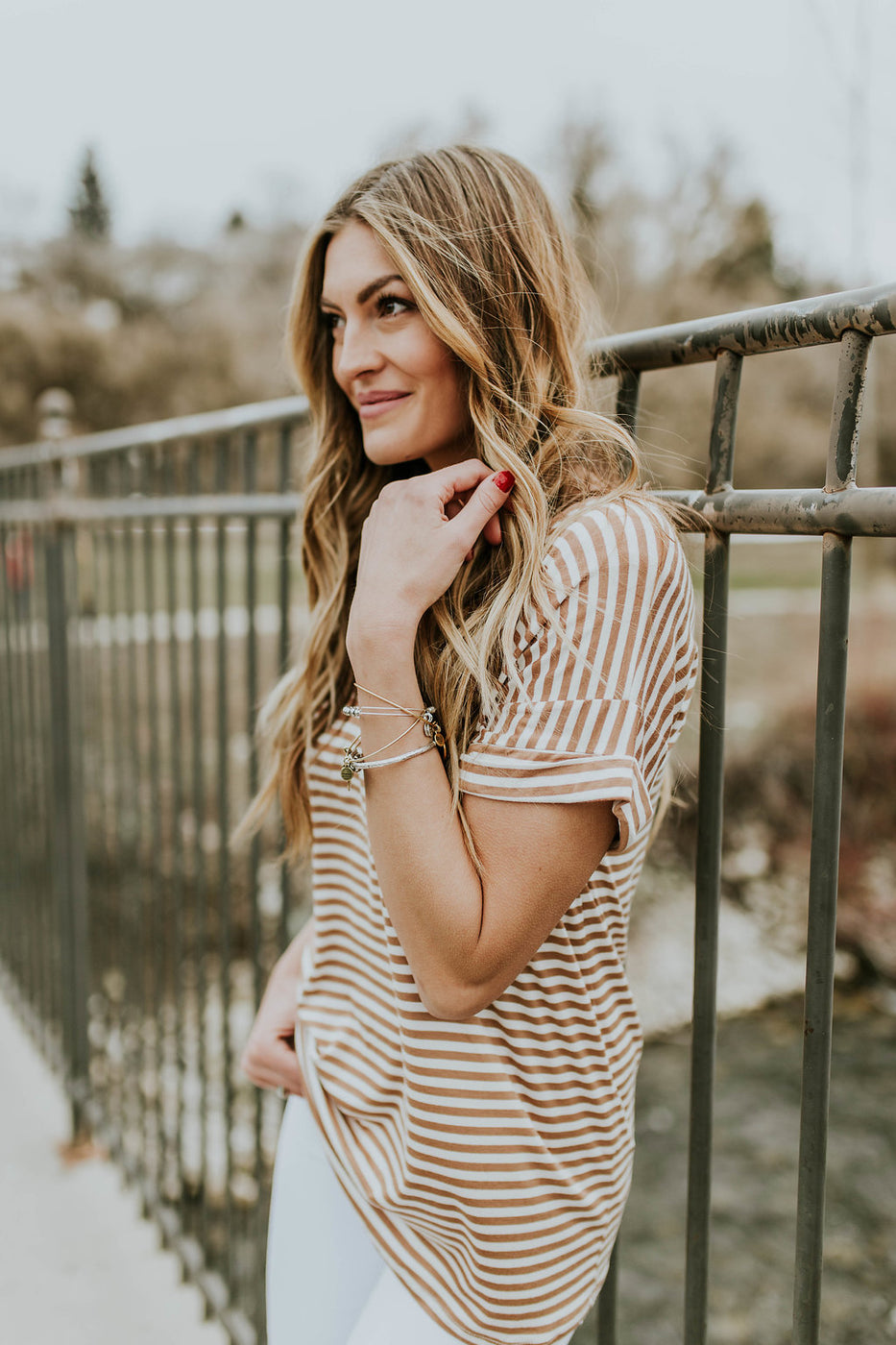 Stripe Tee w/Relaxed Fit | ROOLEE