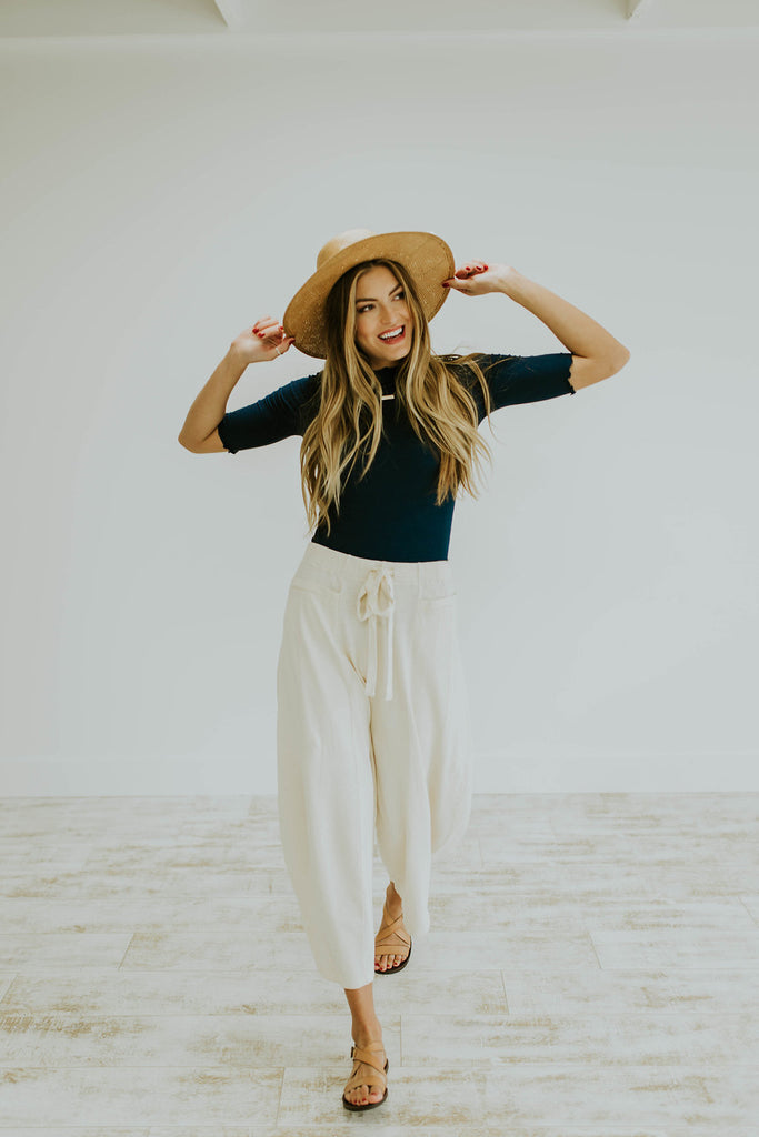 Free People Wild is the Wind Pant in Ivory | ROOLEE