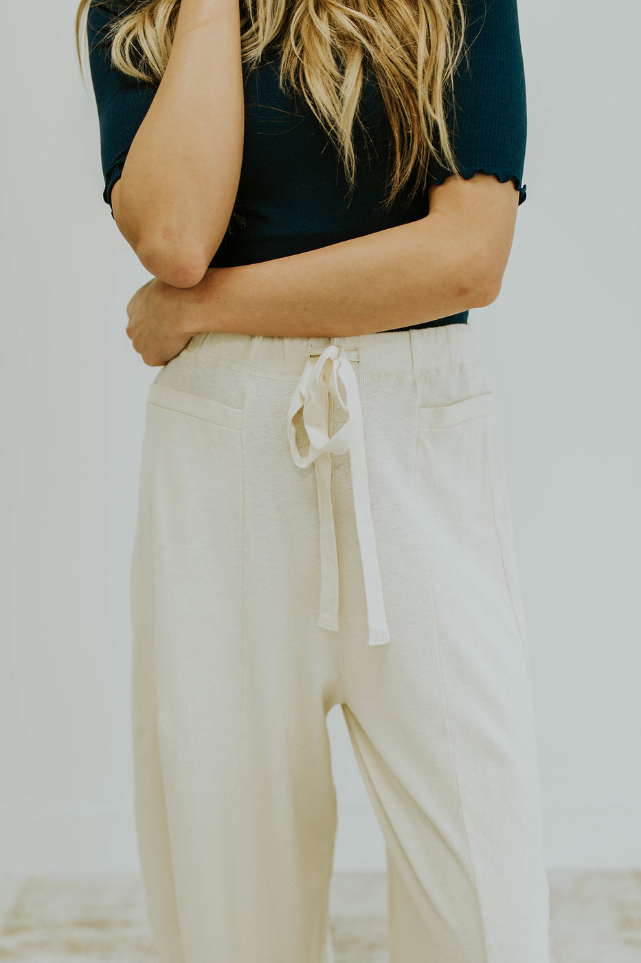 Neutral Wide Leg Linen Pant | ROOLEE