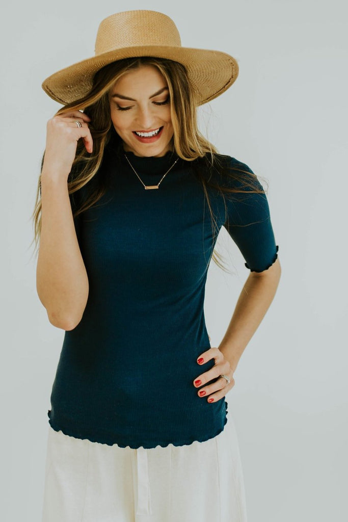 Central Park Top in Midnight Blue | ROOLEE