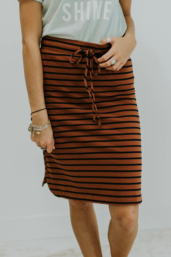 Seen It All Stripe Skirt