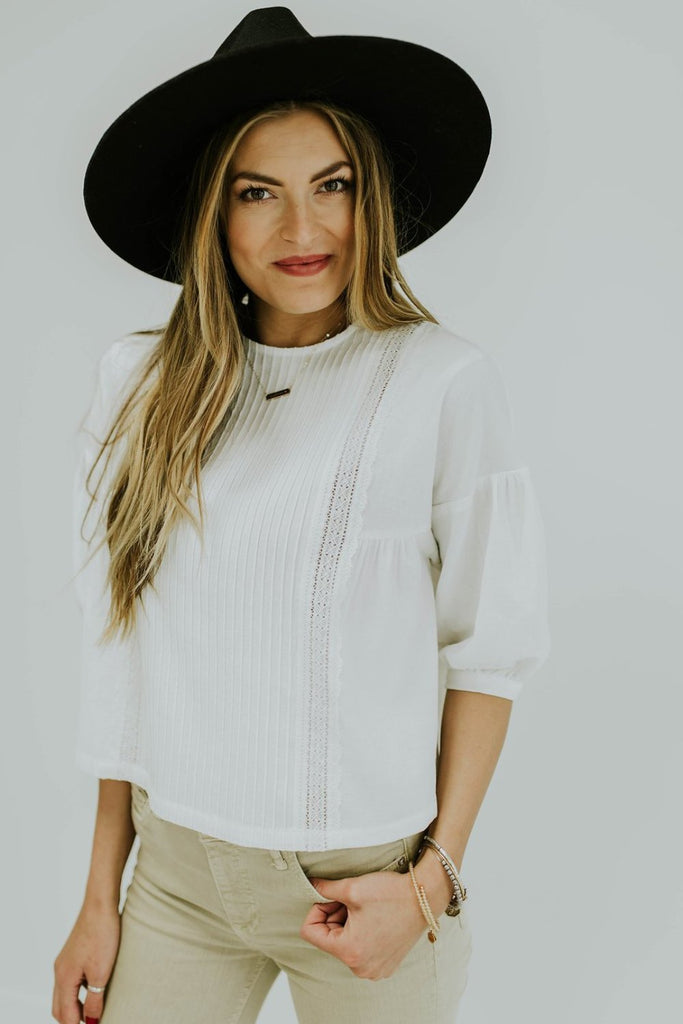 White Embroidered Top | ROOLEE