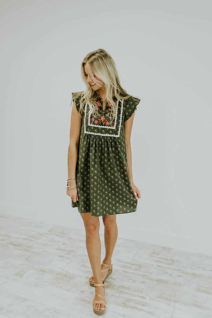 Embroidered Summer Dress | ROOLEE