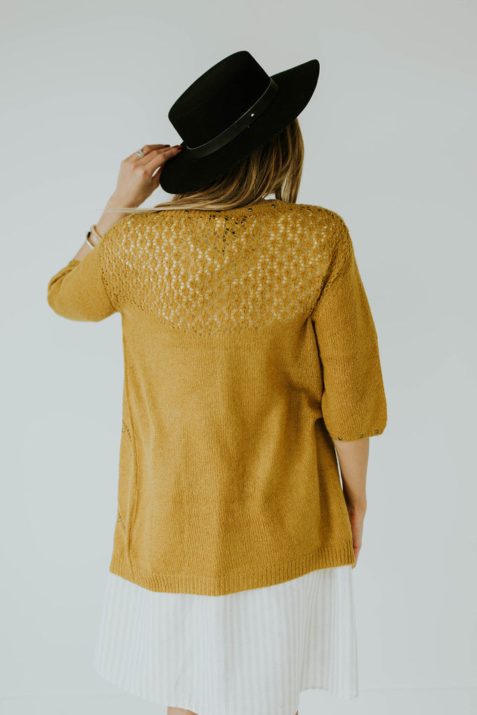 Crocheted Back Cardigan | ROOLEE