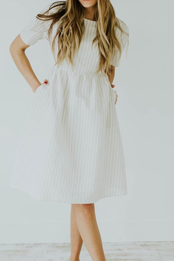 There She Goes Stripe Dress | ROOLEE