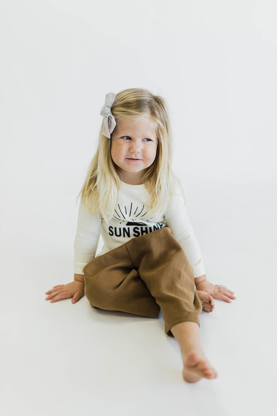 Brown Cotton Pants | ROOLEE Kids