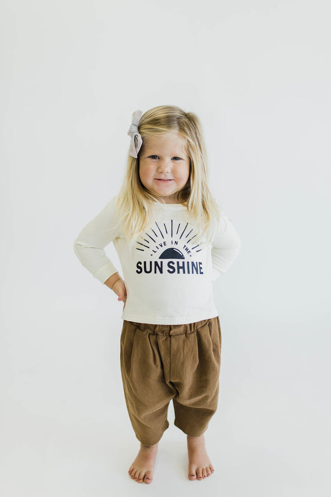 Brown Pleated Pants | ROOLEE Kids