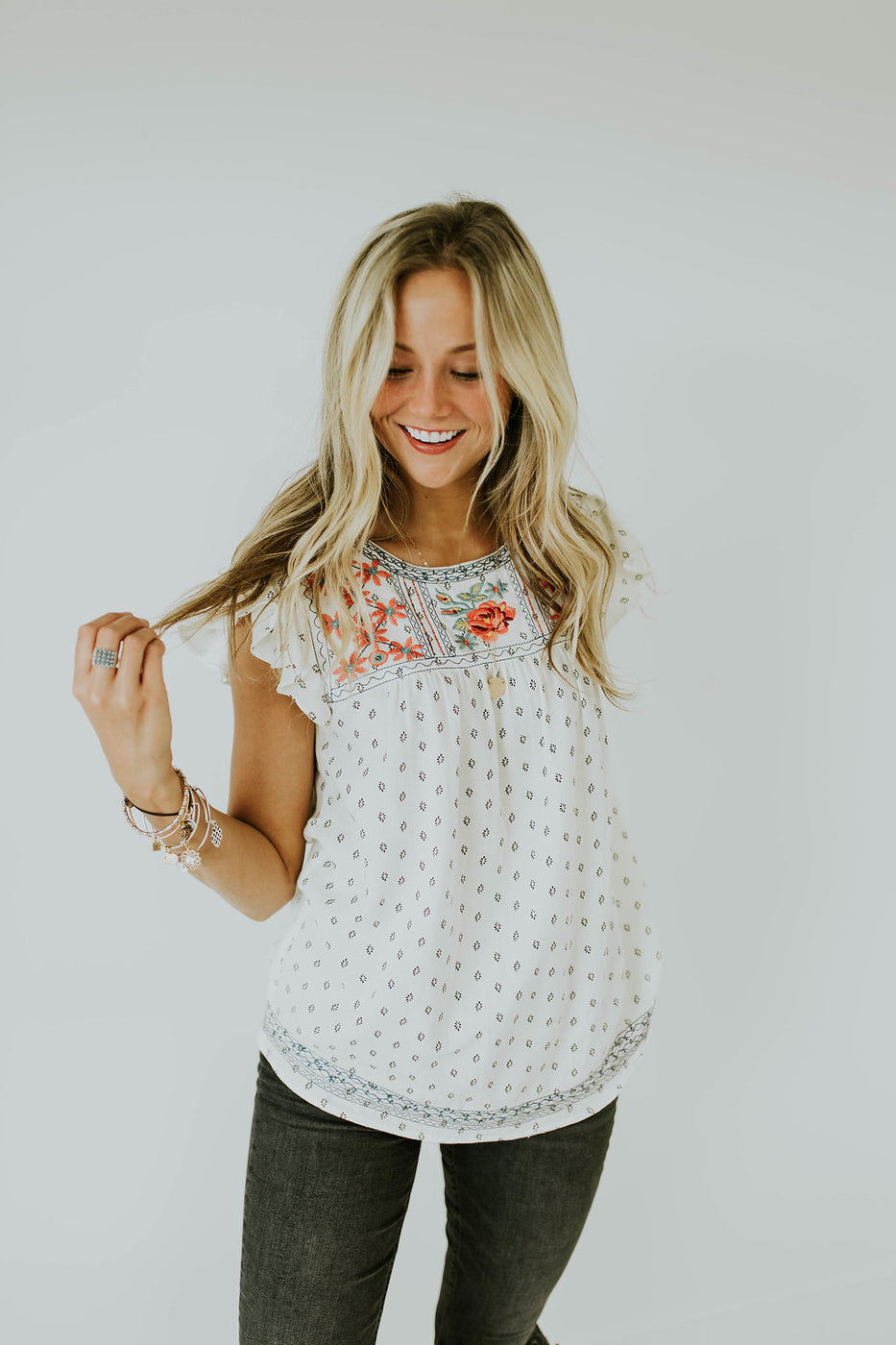 Summer Love Embroidered Top | ROOLEE