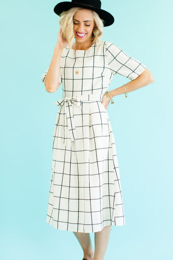 Harper Plaid MOM Midi