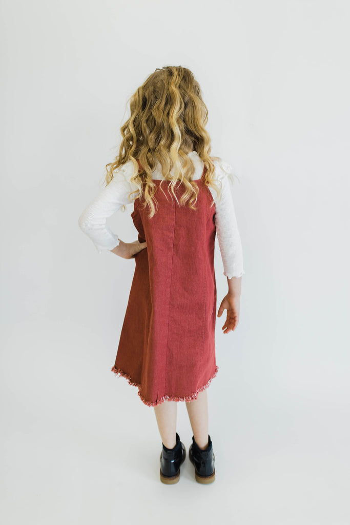 Fray Hem Denim Dress | ROOLEE Kids
