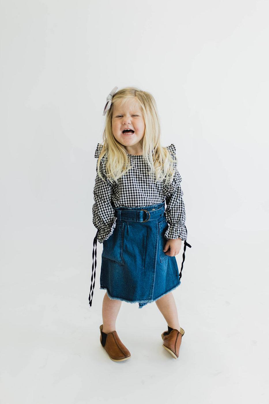 Denim Skirt w/Belt | ROOLEE Kids