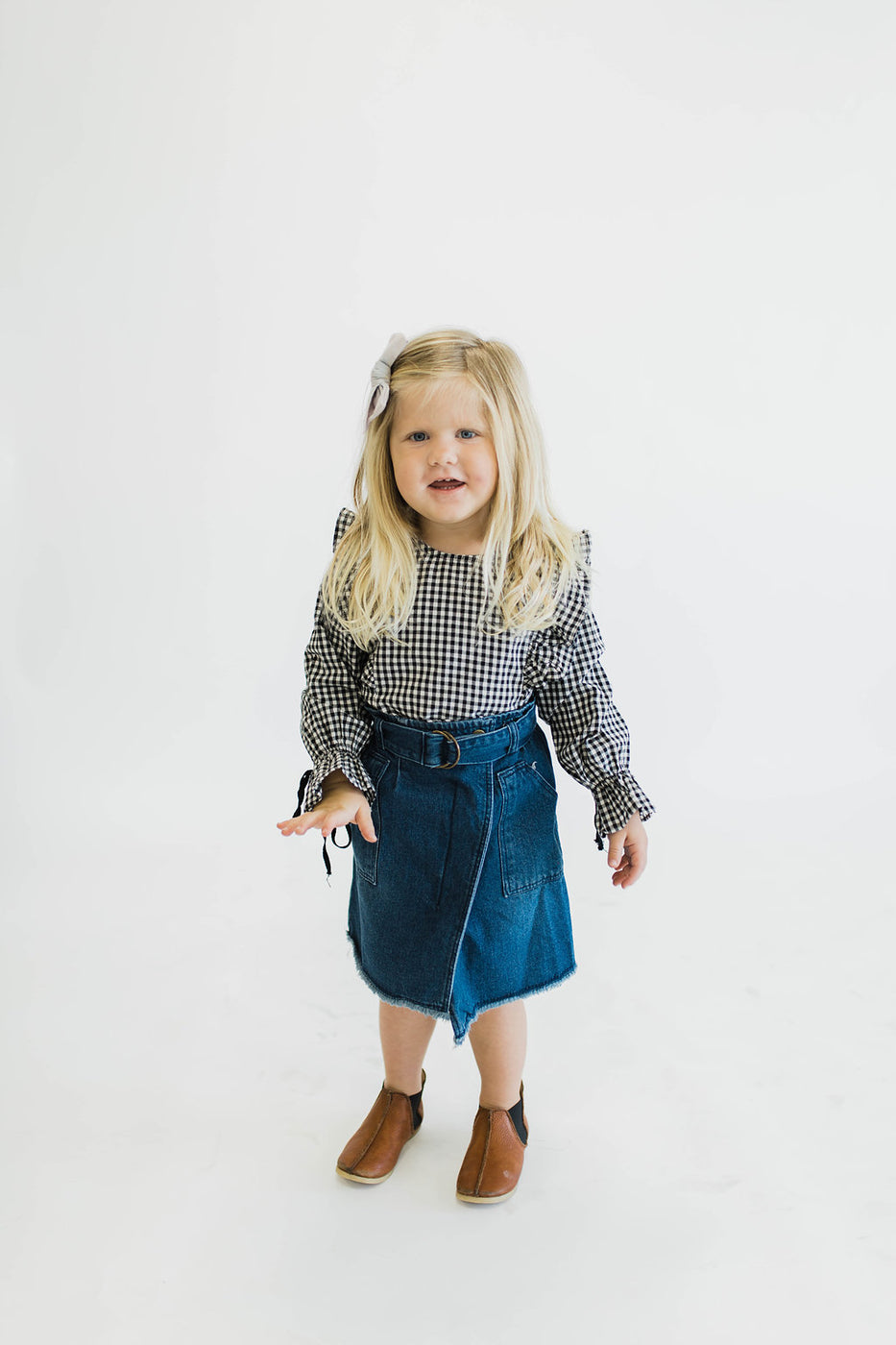 Denim Wrap Skirt | ROOLEE Kids