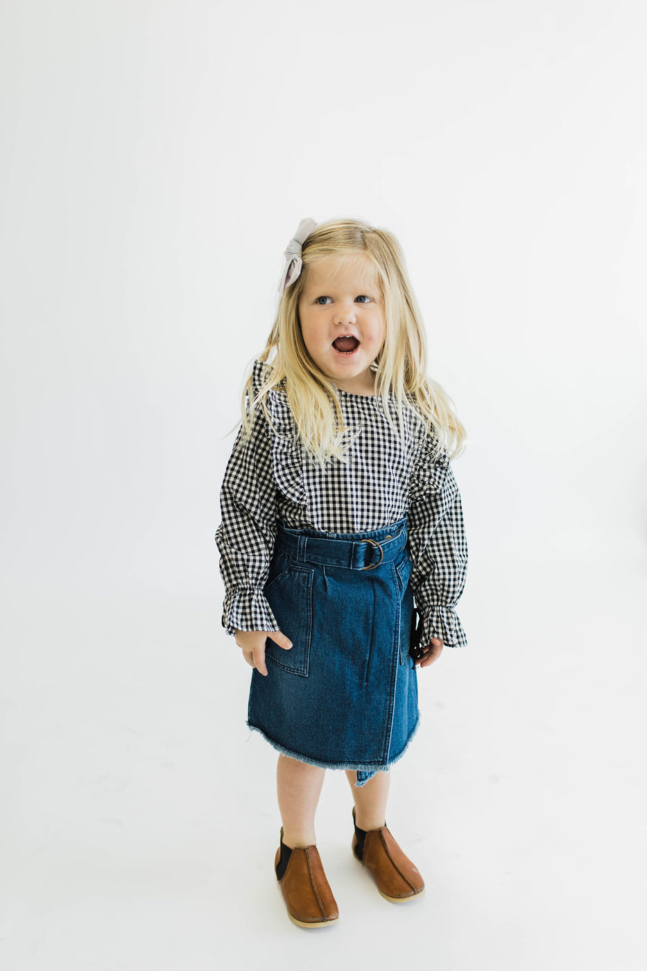 Ruffle Sleeves Kids Top | ROOLEE Kids