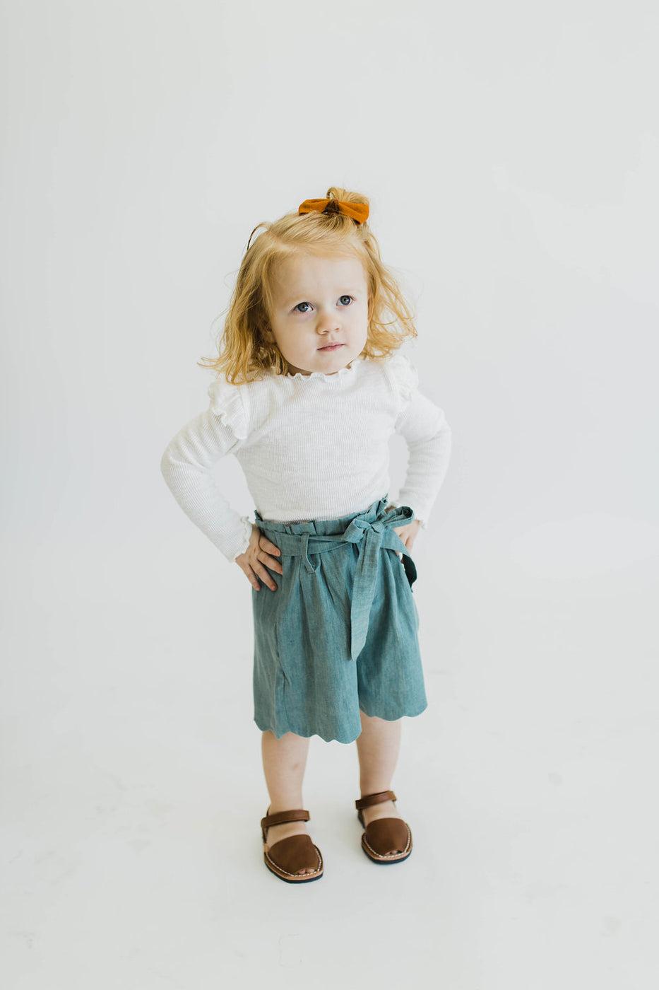 Ruffle White Top | ROOLEE Kids
