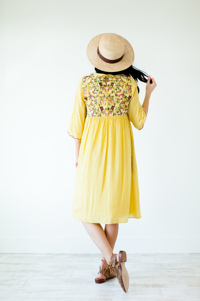 Daffodil Embroidered Dress