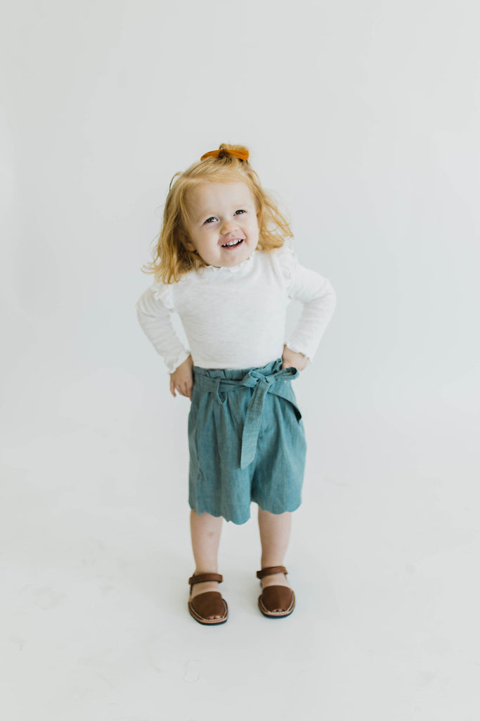 White Ruffle Top | ROOLEE Kids