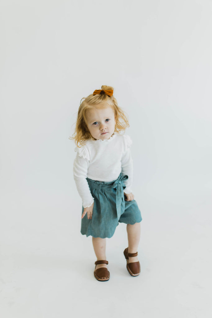 Ribbed Ruffle Top | ROOLEE Kids