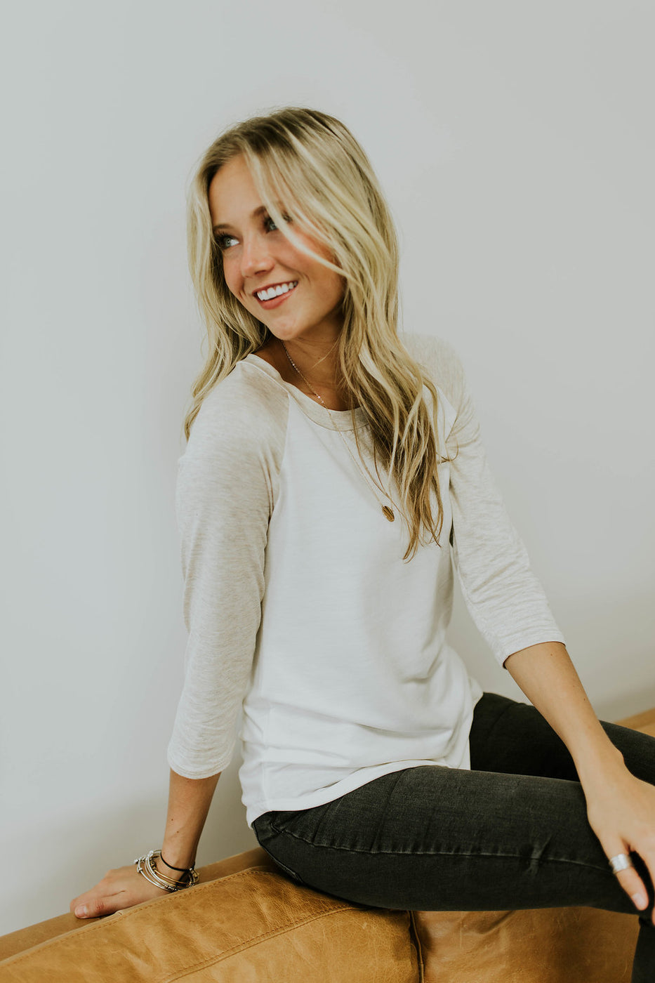 Light Tan Baseball Tee | ROOLEE