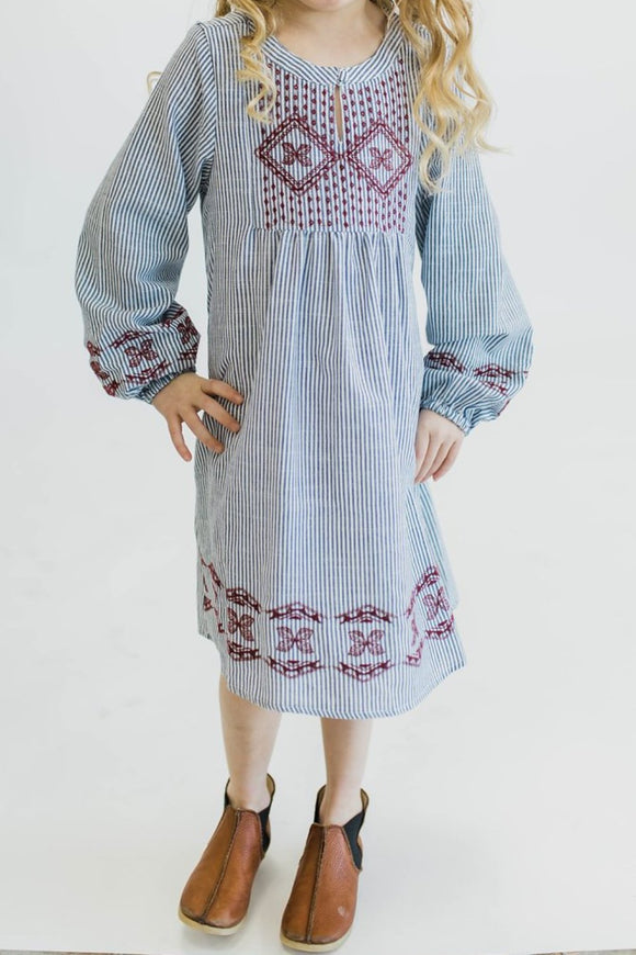 Montana Embroidered Dress | ROOLEE