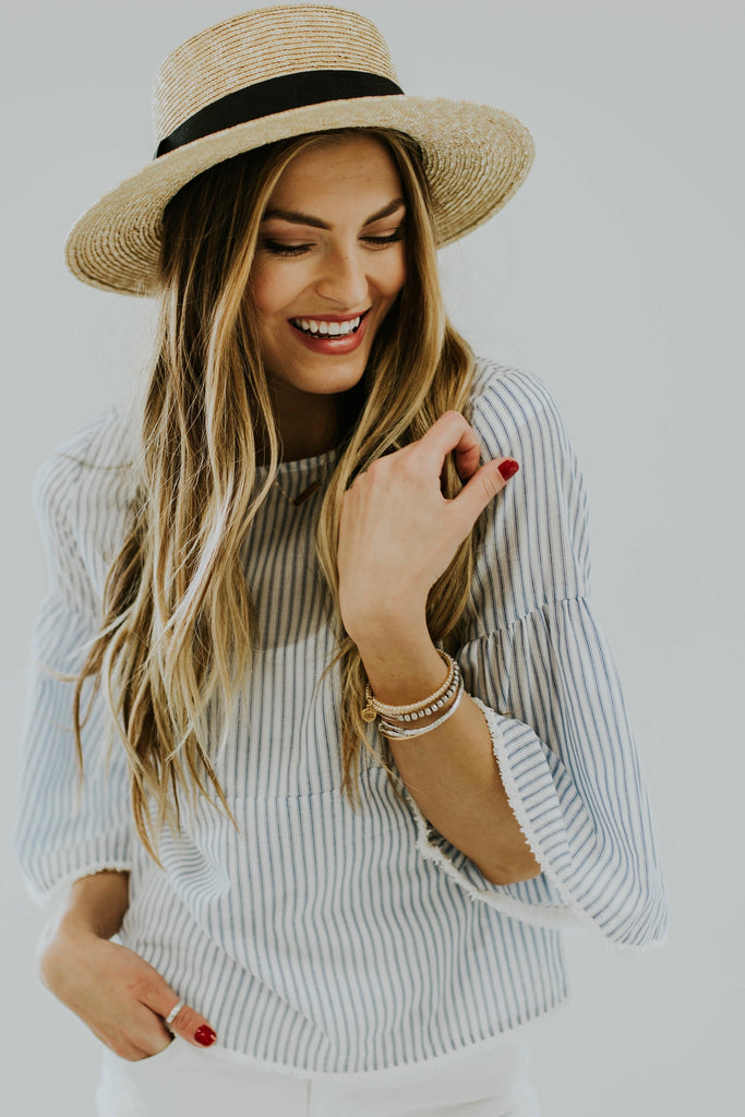 The Rome Stripe Blouse | ROOLEE