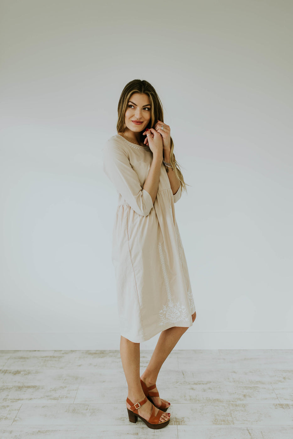 Knee Length Dress For Women | ROOLEE