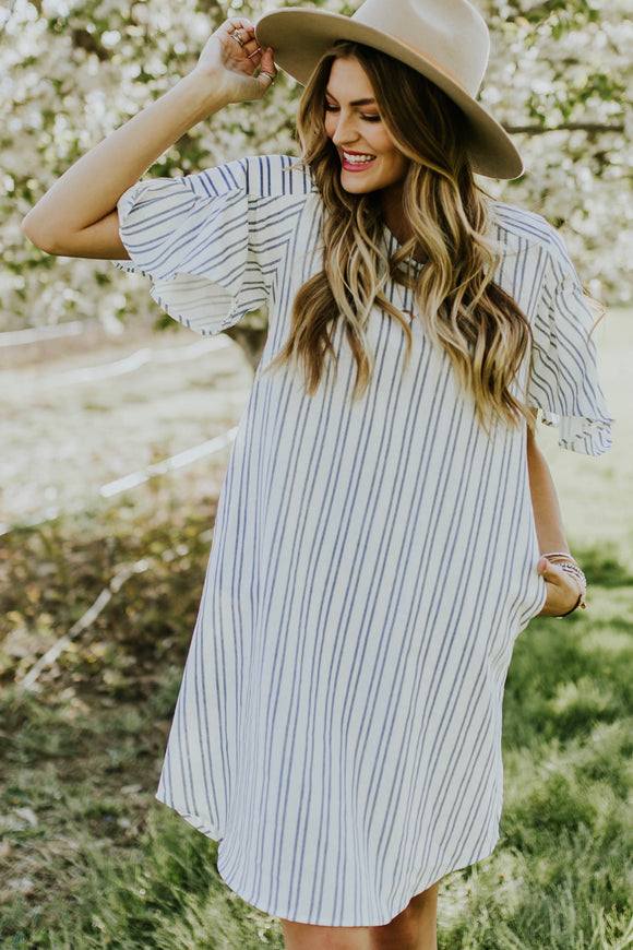 Miranda Stripe Dress | ROOLEE