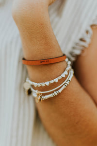 You and Me Leather Bracelet | ROOLEE