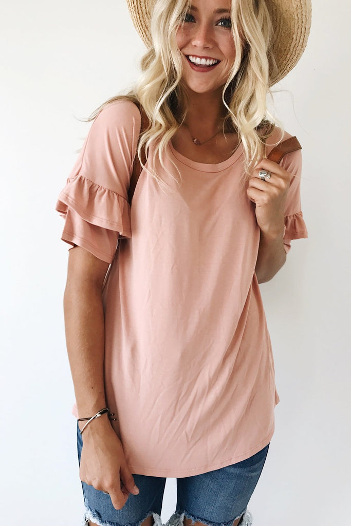 Love At First Sight Blouse in Blush
