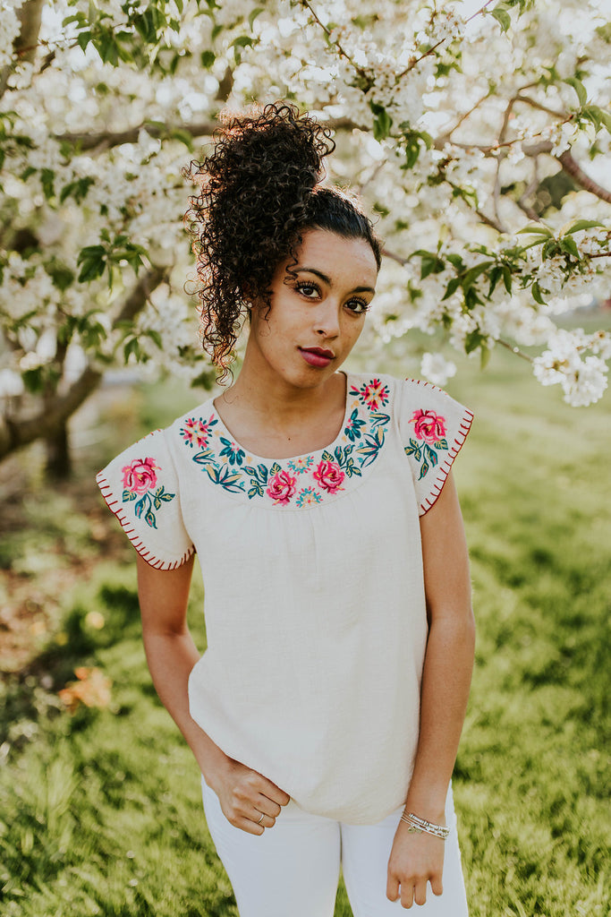 Addie Floral Top | ROOLEE