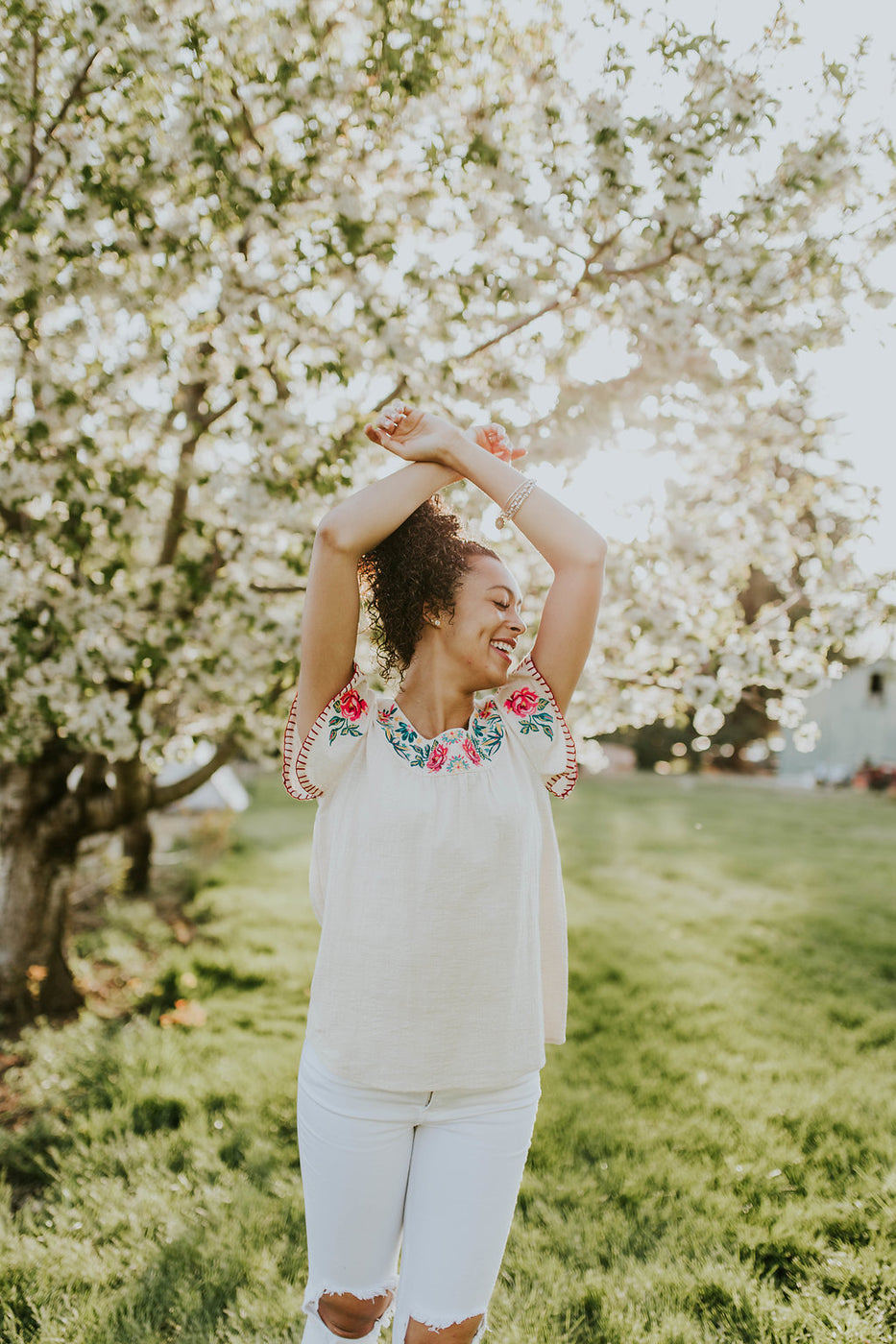 Summer Embroidered Outfit Inspiration | ROOLEE