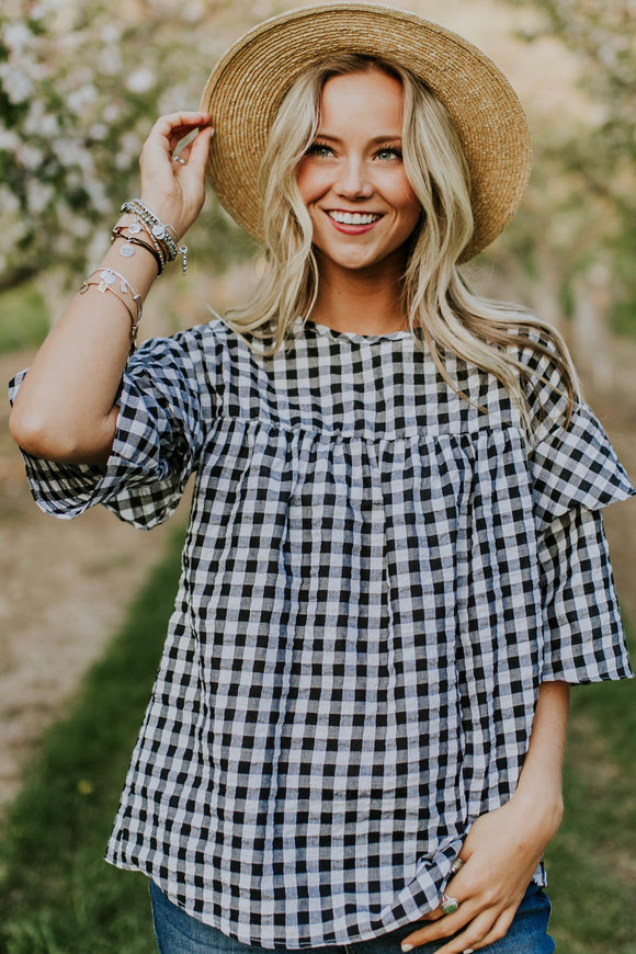 Garner Checkered Top | ROOLEE