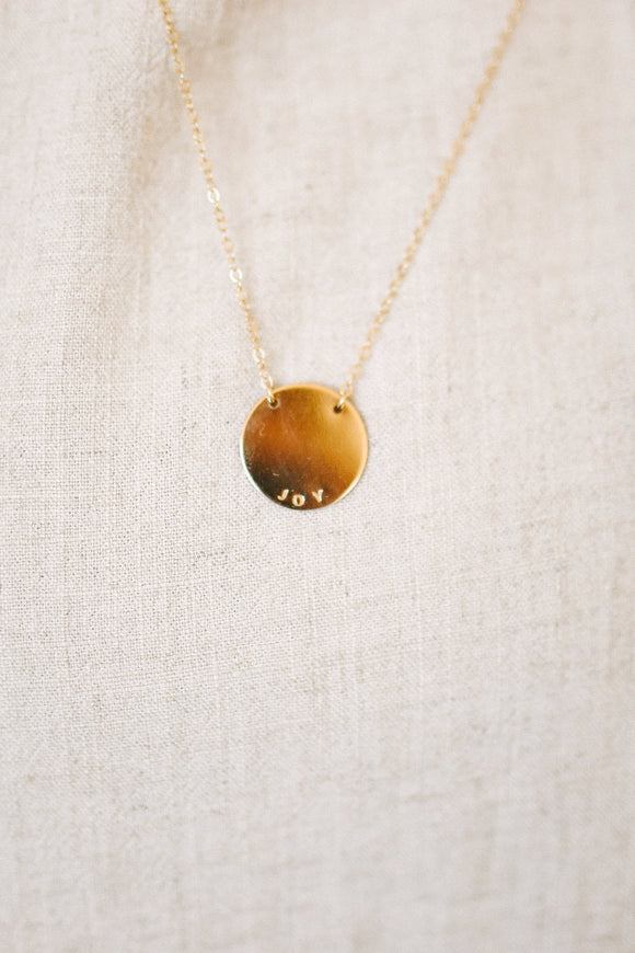 Joy Script Minimalist Necklace | ROOLEE