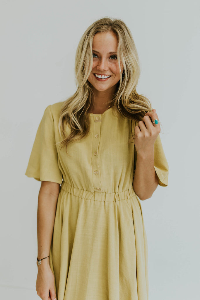 Pale Yellow Spring Dress | ROOLEE