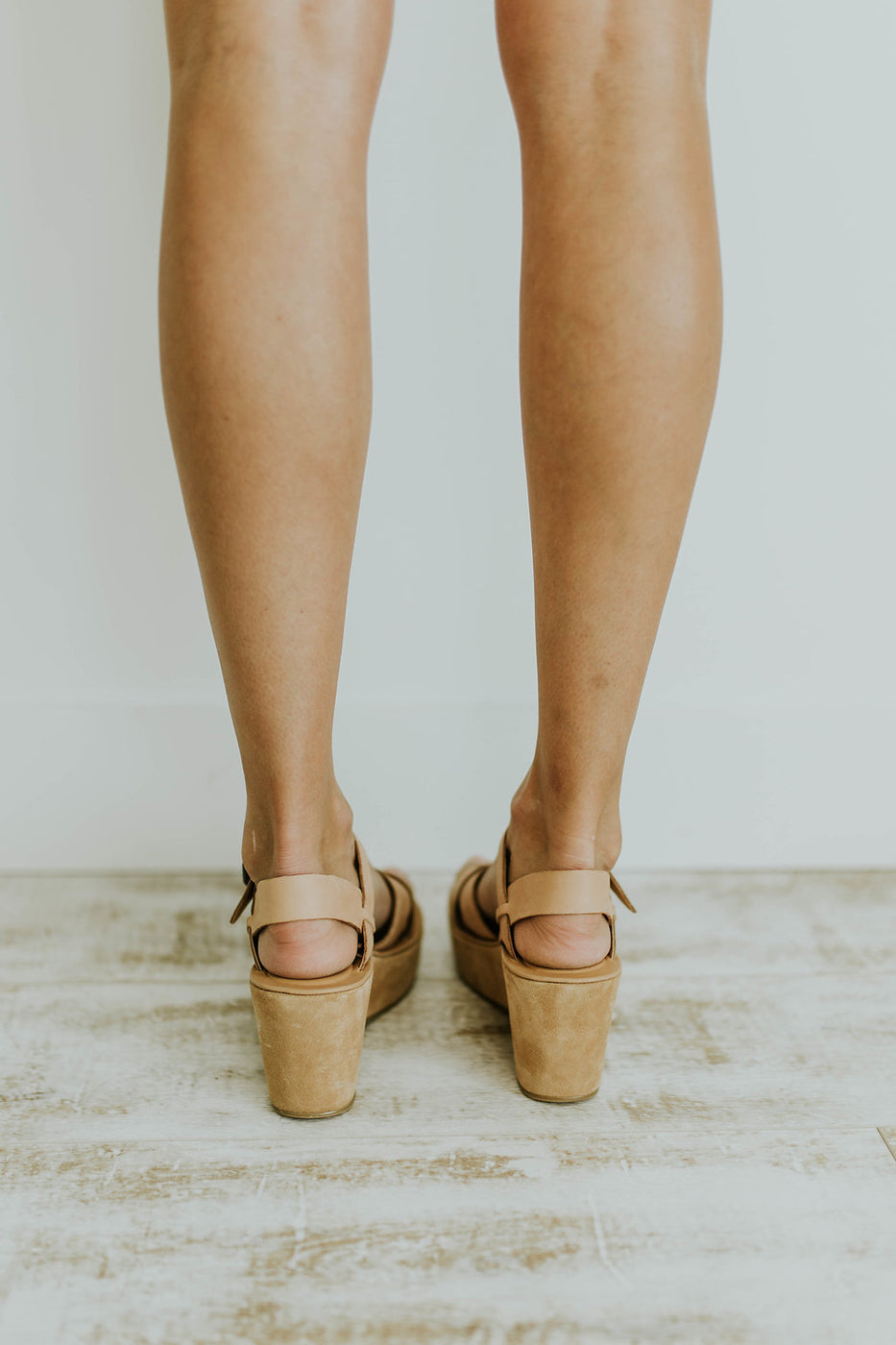 Light Beige Platform Wedge | ROOLEE