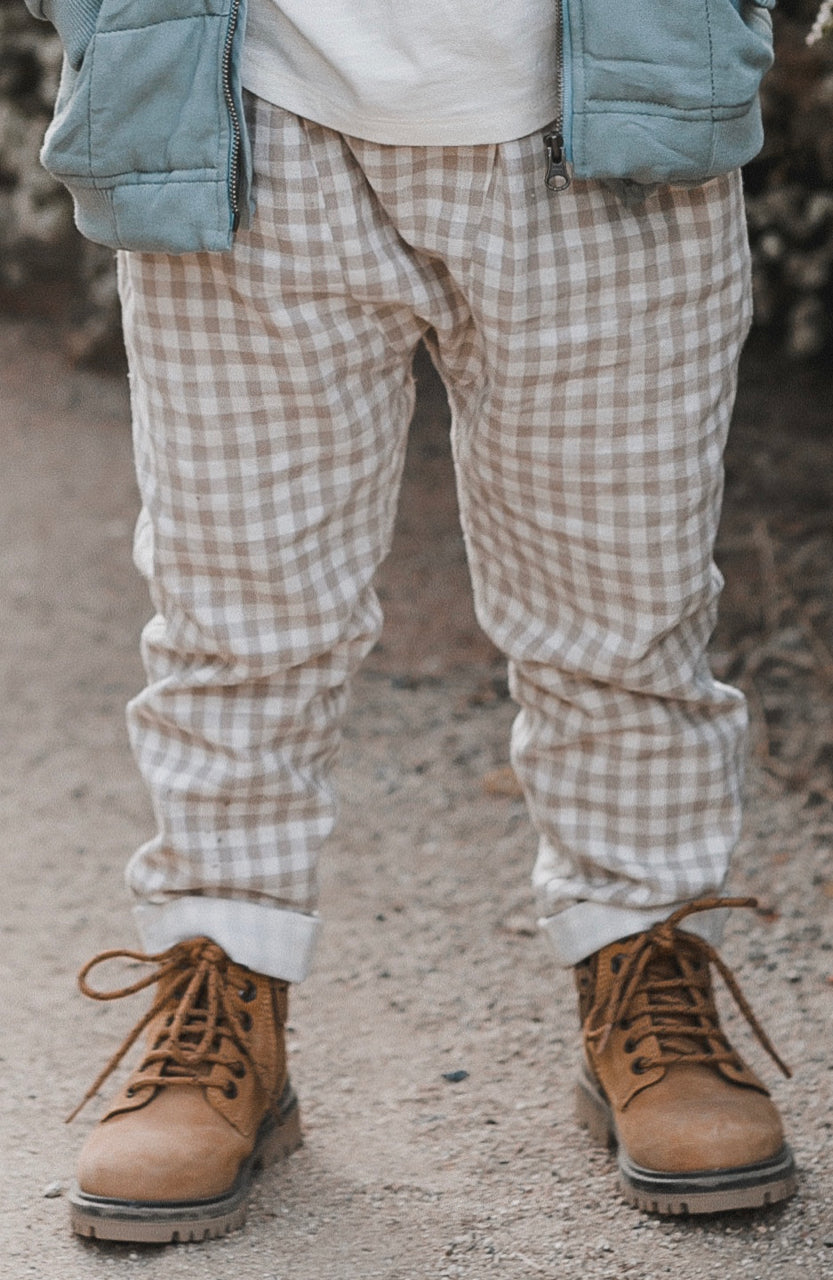 Kids Gingham Trousers | ROOLEE