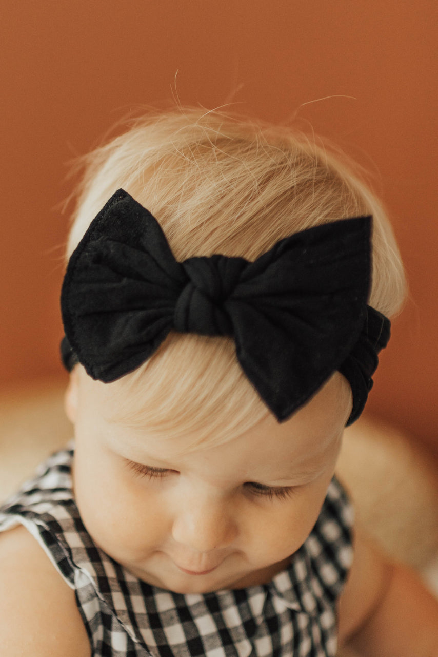 Baby Bling Knotted Bow Headband