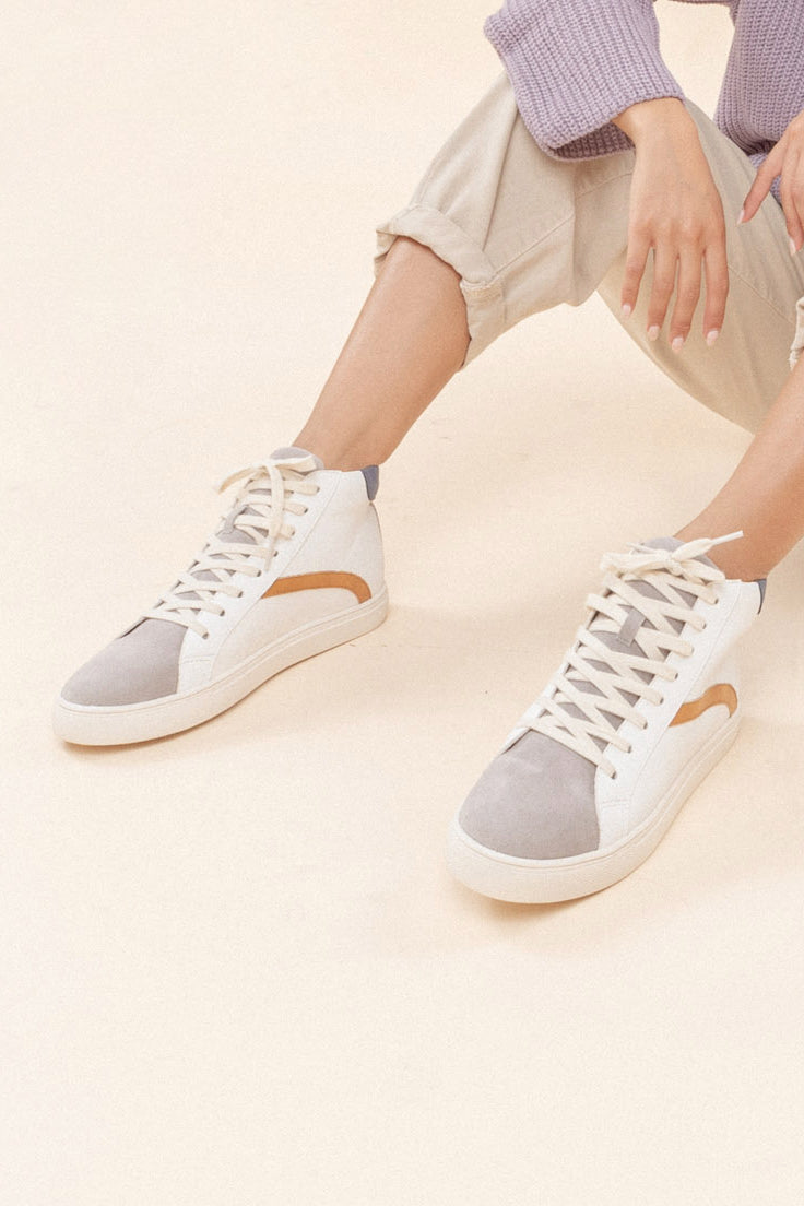 Cute Colorblock Sneakers | ROOLEE
