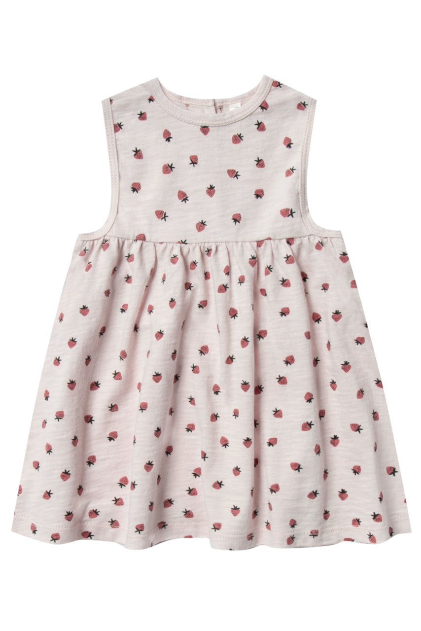 Baby Dress with Strawberry Print | ROOLEE