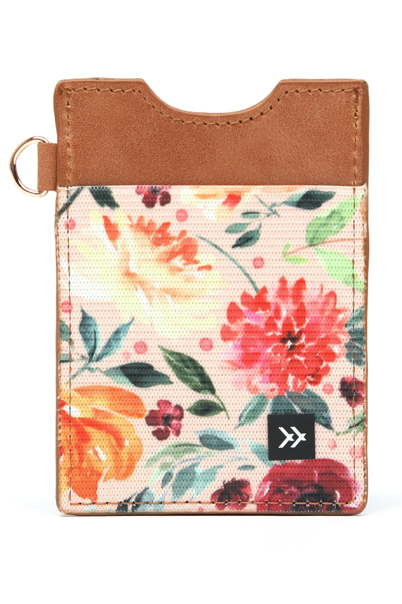 Floral leather card holder | ROOLEE