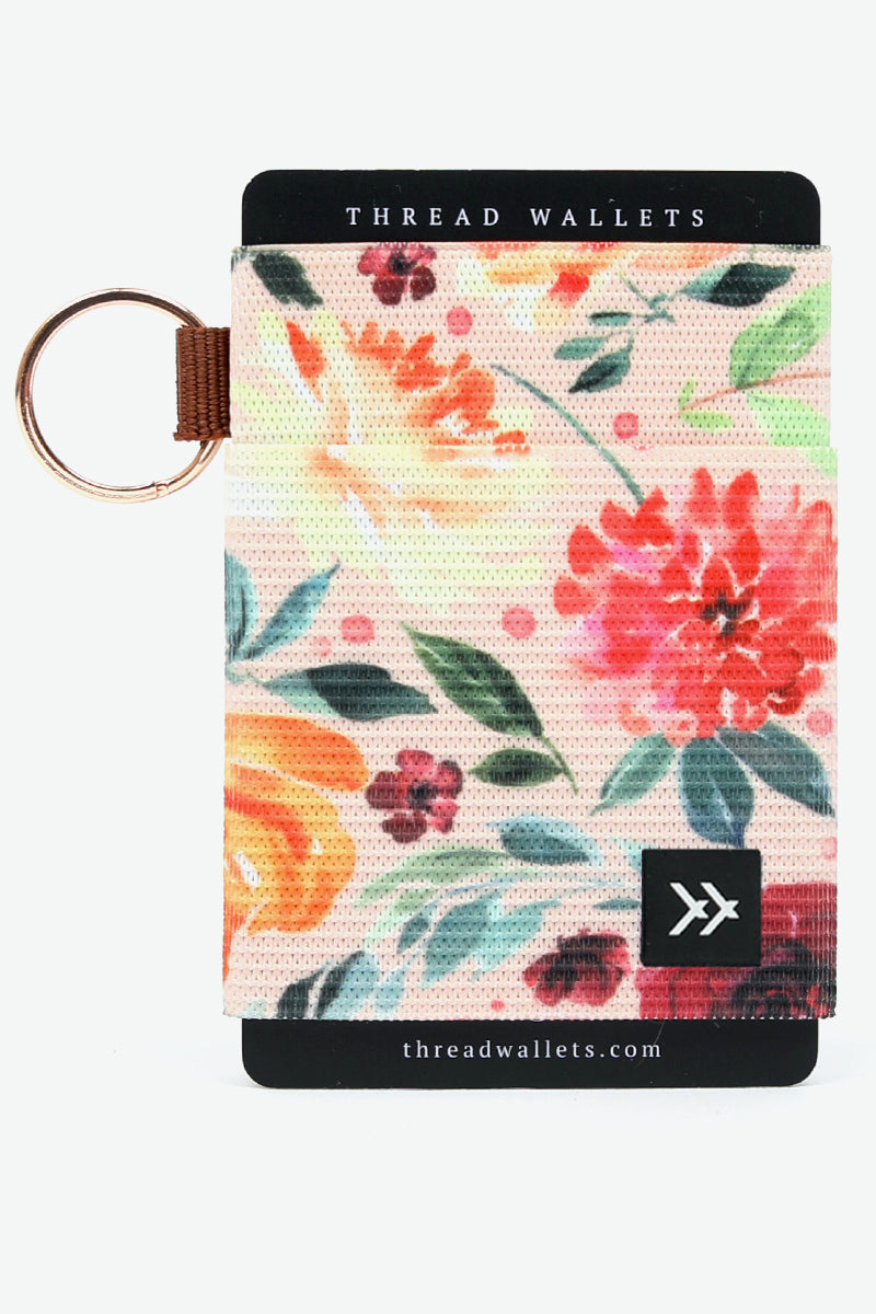 Muted floral women's card holder | ROOLEE
