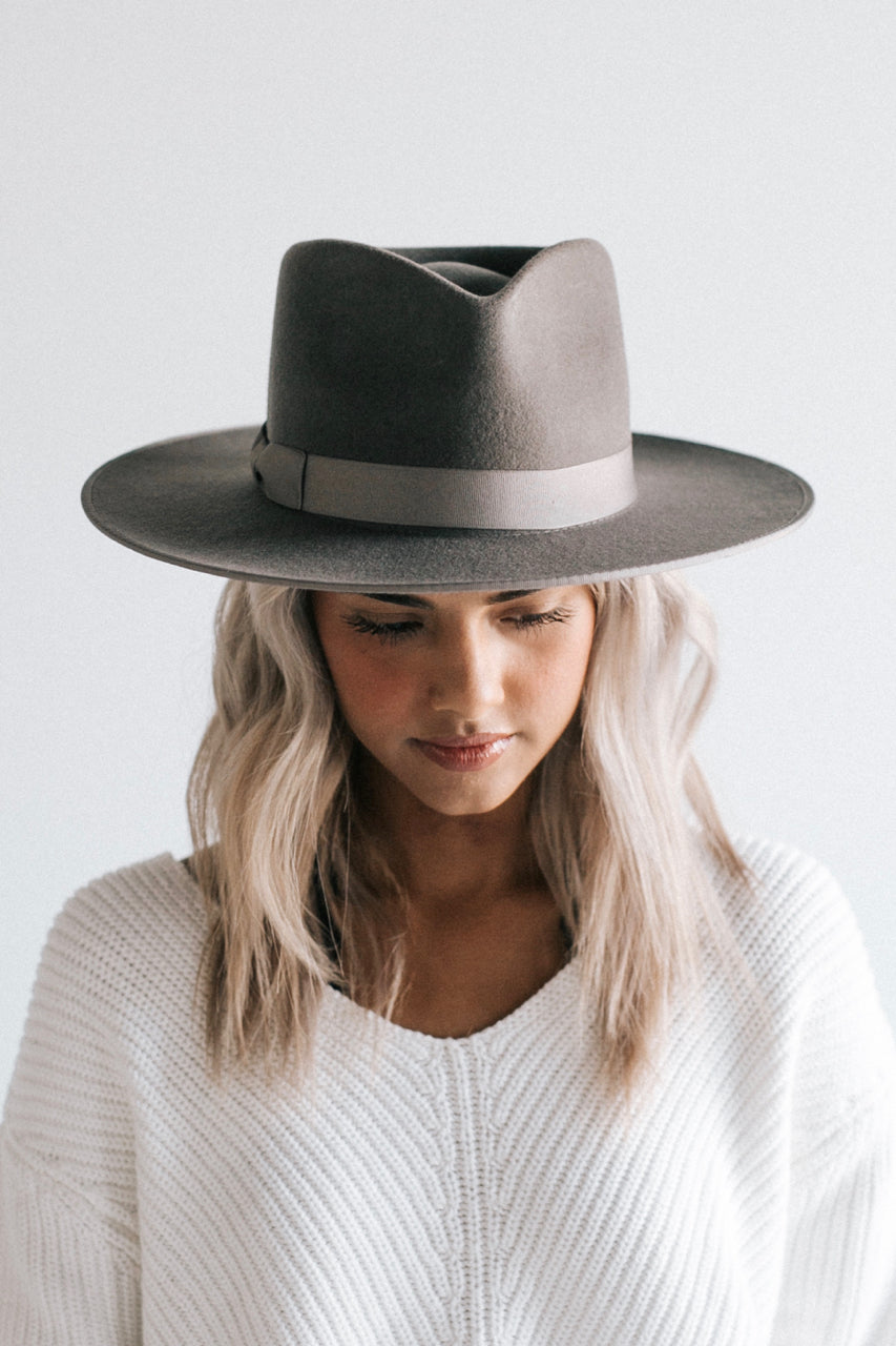The Monroe Hat in Grey | ROOLEE